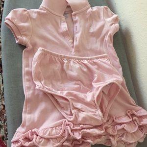 Ralph Lauren baby girl dress with pant 18 M